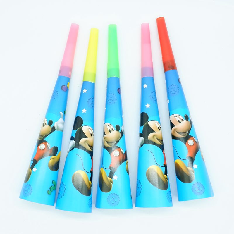 6pcset Cartoon Mickey Mouse Party Noise Makerwhistle Favor Birthday Party Decoration Supplie