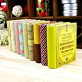 1 pcs creative mini European style books shape candy storage box wedding favor tin box zakka cable organizer container household