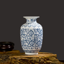 Фотография blue and white cerami vase  home decoration crystal glaze ceramic vase handpainting flower decoration