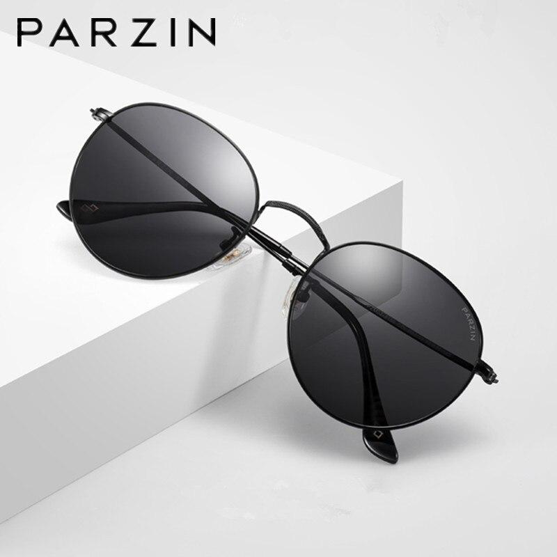 PARZIN Men Polarized Sunglasses For Driving Anti UV Anti Glare TAC Lenses Classic Metal Frame Sun