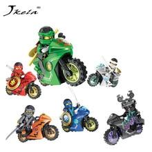 Hot 258A Hot Ninja Motorcycle Compatible legoingly Ninjagoed Building Blocks Bricks toys Kids Gift Kozu