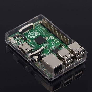 160 pçs / lote Raspberry Pi 3 Modelo B + (mais) Caixa ABS Caixa Tranparent ABS Gabinete Shell para Raspberry Pi 3/2 1