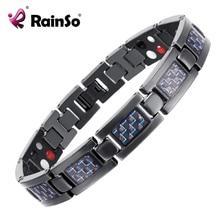 De calidad superior titanium del brazalete de la pulsera de cuidado de la salud magnética pulsera azul plateado joyería de los hombres pulseras amor