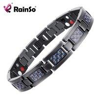 Top Quality Health Titanium Bracelet Bangle Blue Plated Magnetic Care Bracelet Men Jewelry Love Bracelets OTB