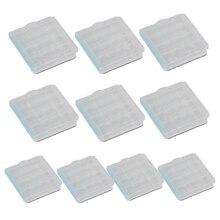 10 قطعة حامل علبة بلاستيكية غطاء صندوق تخزين قابلة للشحن AA و AAA بطاريات SGA998