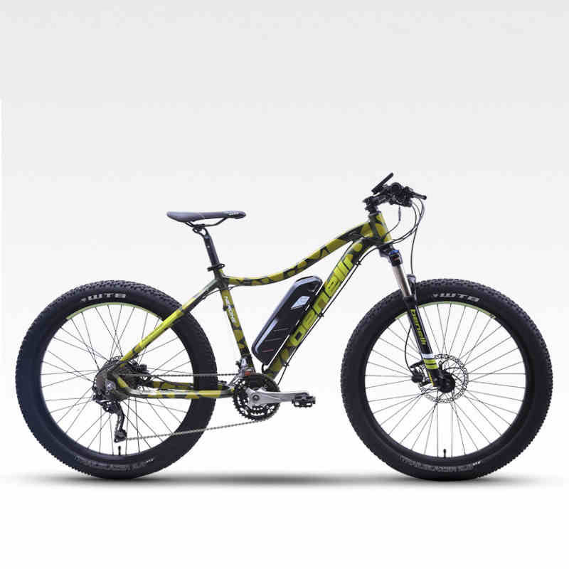 Able Carbon Fiber Electric Mountain Bicycle 27.5inch Hybrid Carbon Fiber Smart Lithium Pas Middle Motor Mtb Deroe Ebike City Bicycle Cycling