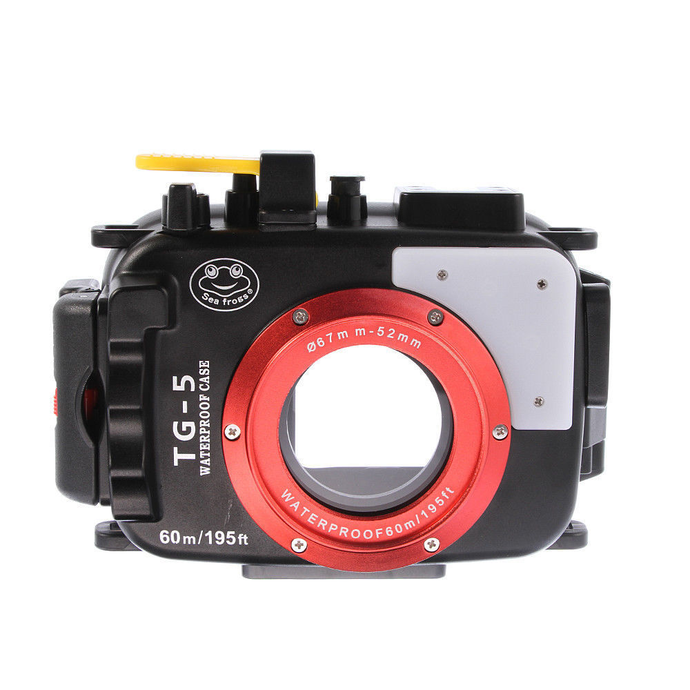40M/130FT Waterproof Underwater Housing Case for Olympus TG5 TG 5 67mm 52mm Camera Black Yelllow Red