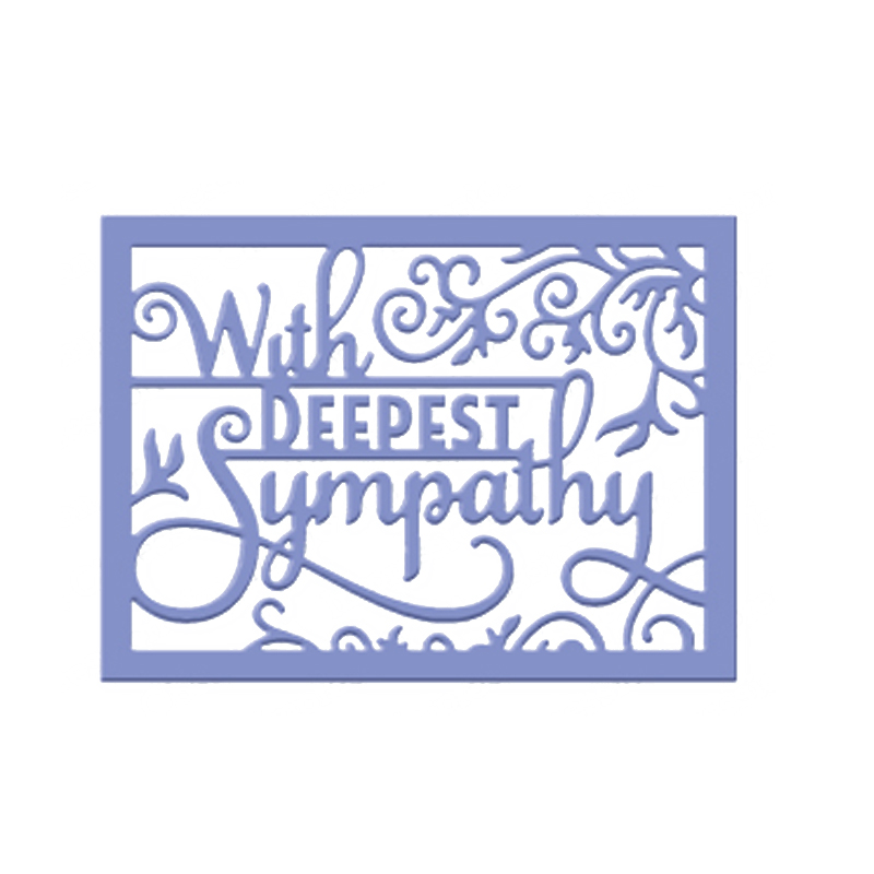 With Deepest Sympathy Metal Cutting Die For DIY Scrapbooking Album Paper Card/_sh