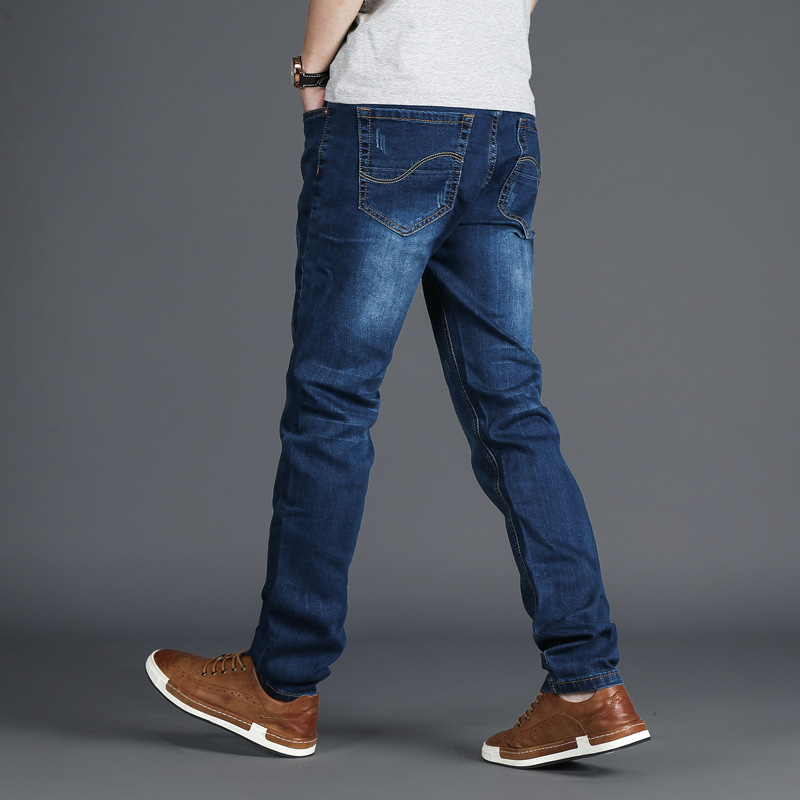 Mens large size waist thin jeans loose fashion casual comfort breathable straight loose fat fat large size cowboy trousers men