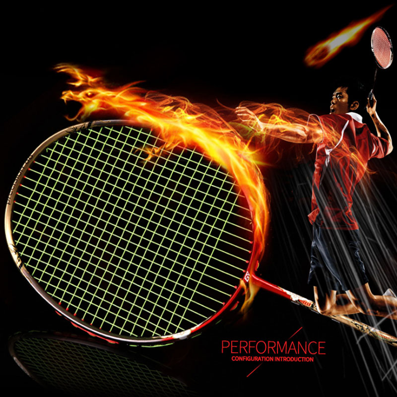 All-carbon Badminton Racket Violent Smash Offensive Badminton Racket 4U 32LBS