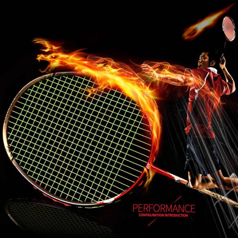 All-carbon badminton racket violent smash offensive badminton racket 4U 32LBS