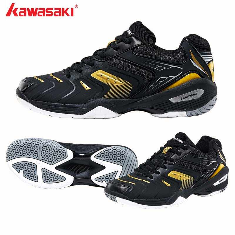 2019 Kawasaki Sports Badminton Shoes Wearable Anti-Slippery fitness Indoor Court Sports Shoe for Men Women High Breathable Mesh