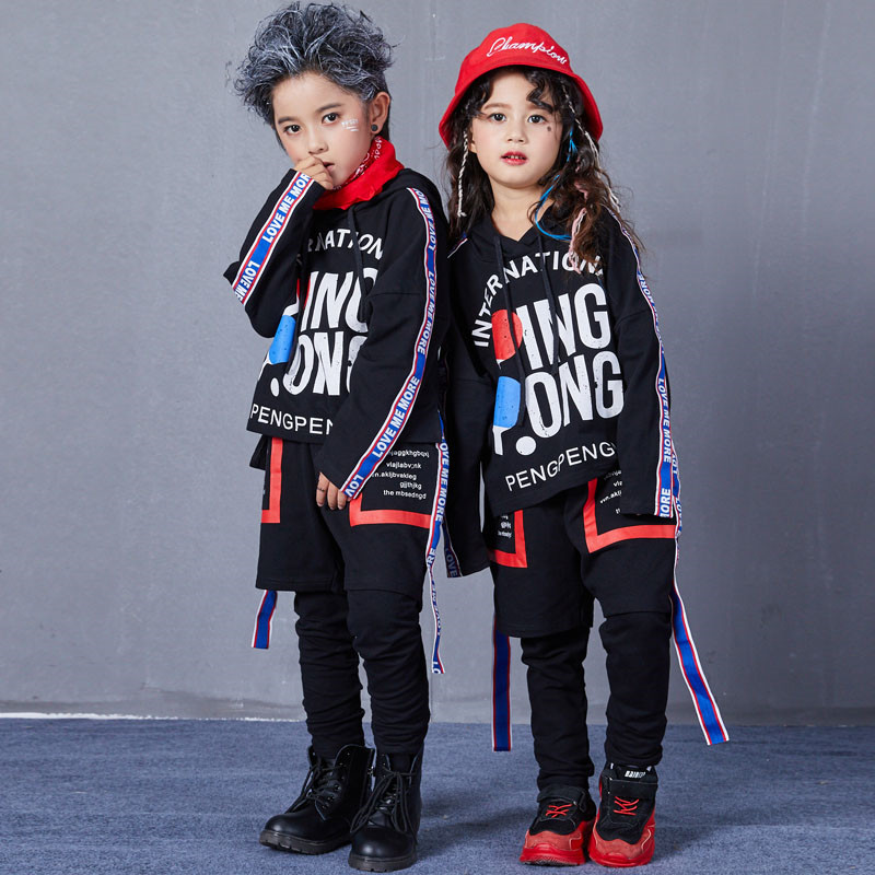 Autumn Hip Hop Jazz Dance Costumes for Kids Street Dance Clothes Sets Boys Girls High Fashion Street Wear Size 6 8 10 12 14 17 T