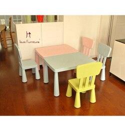 Mesa de juegos cuadrada de escritorio y silla de estudio para niños
