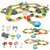 240pcs Magic Racing Track Set Toys Roller Coaster DIY Flex Race Track Flexible Track Playset Railway