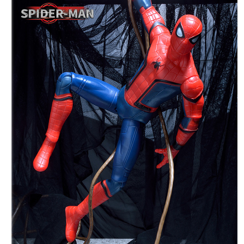 Hot 34 cm Avengers Spiderman Super Hero Tom Holland Spider-Man: Homecoming Action Figure Justice League Tobey Maguire Toys L435 new hot 10cm spider man avengers super hero action figure toys spiderman doll christmas gift with box