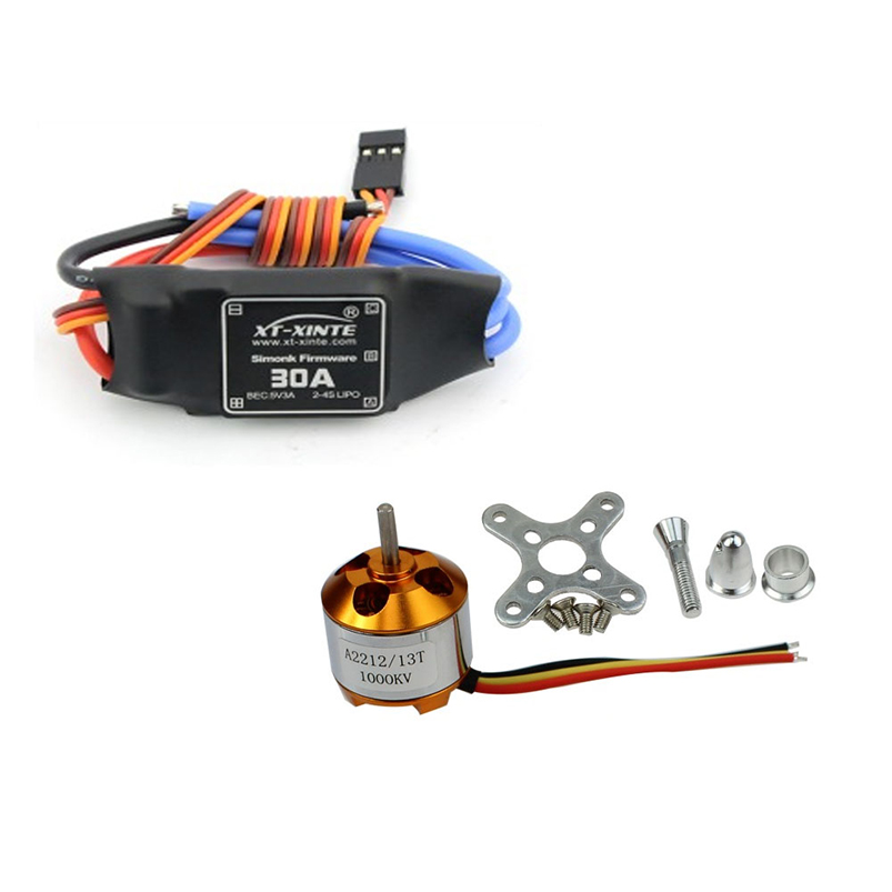 F00177-A 6pcs A2212 1000KV Brushless Motor & 6pcs 30A ESC For RC Quadcopter xxd 4pcs a2212 1000kv brushless motor with 4pcs 30a esc for multicopter quadcopter