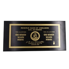 Home Decorative Zimbabwe 1000pcs Gold Banknotes 100 Trillion Dollars In Box with 100pcs COA By Fast Shipping