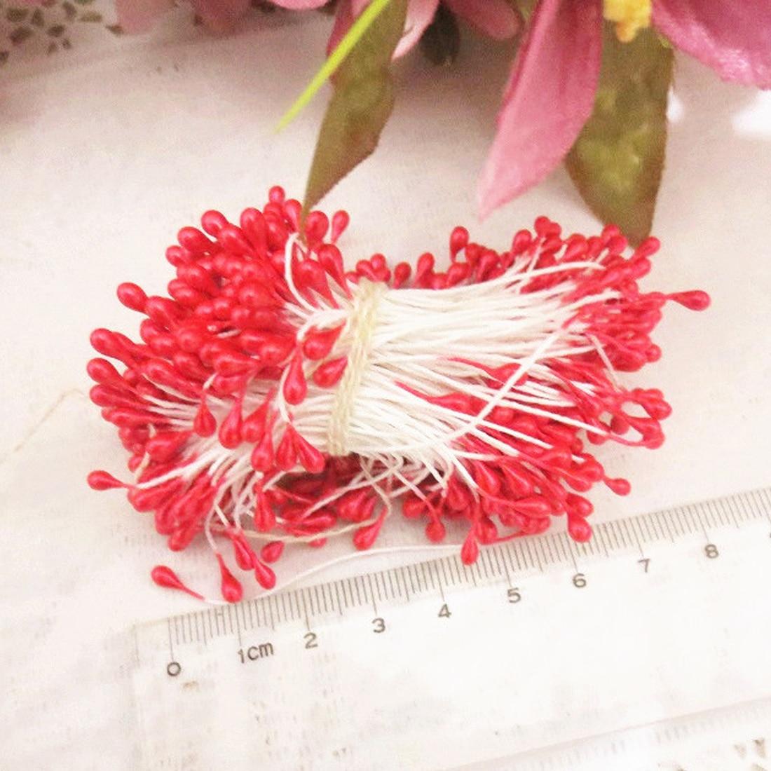 Шт. 1 комплект из 150 шт. искусственные растения цветок двойной головок тычинки перламутровые рукодельные карточки торты Декор цветочный номер Свадебные УКР