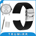 17mm 18mm 19mm 20mm 21mm 22mm 23mm 24mm Silicone Rubber Watch Band for Armani Stainless Steel Buckle Strap Wrist Belt Bracelet