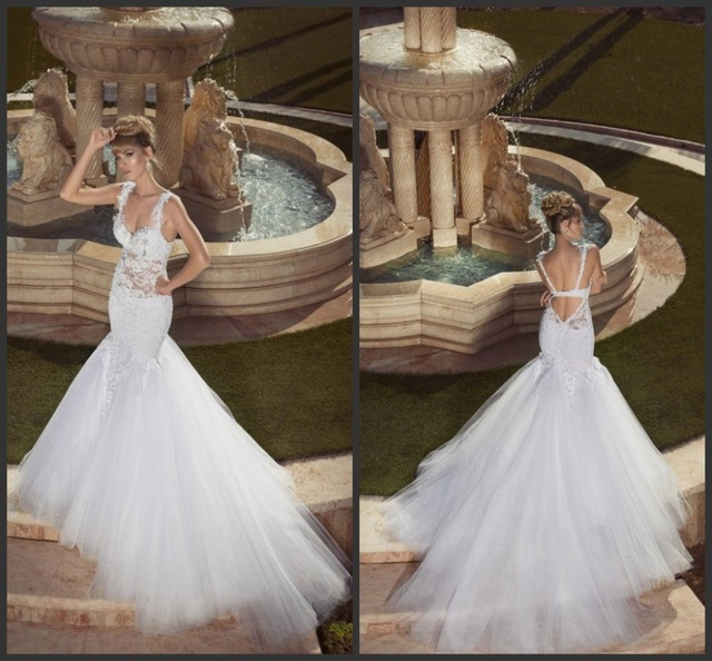 Fit and Flare Wedding Dress Backless