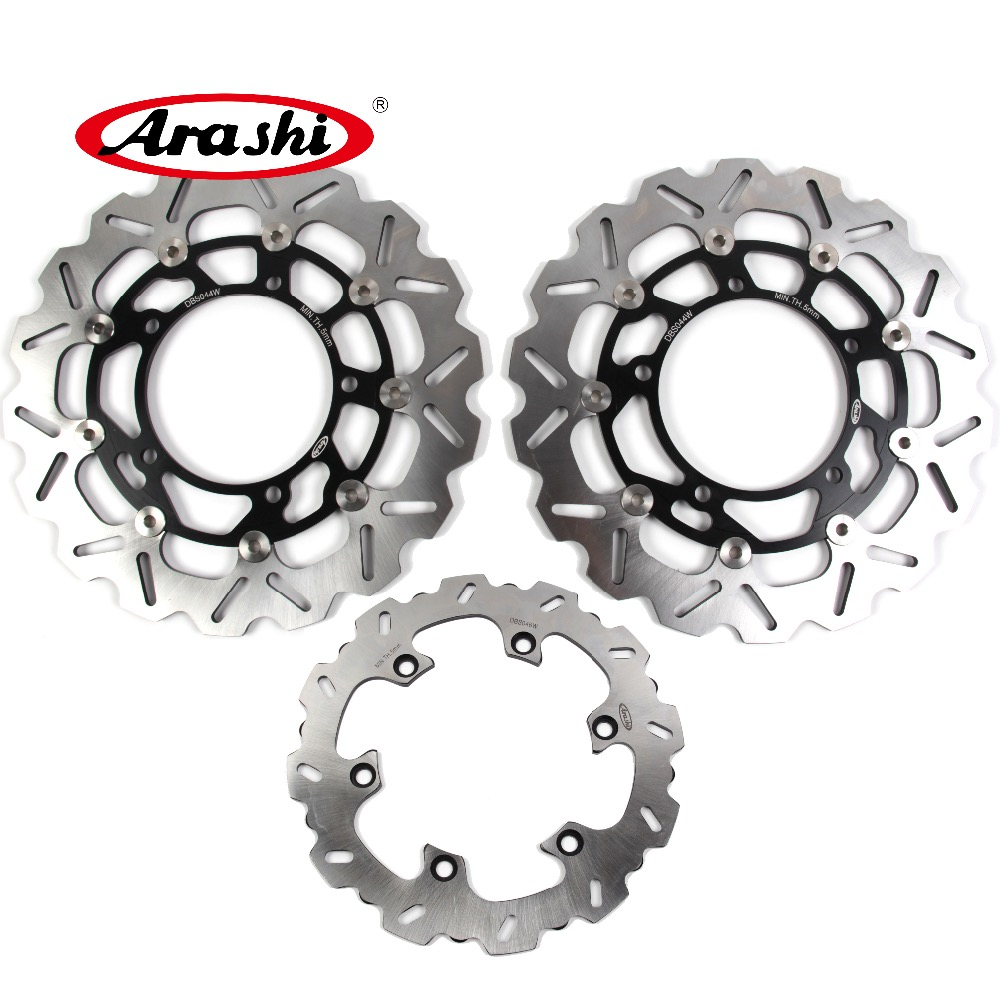 ARASHI B KING GSR1300 Front Rear Brake Rotors Brake Disc FOR SUZUKI GSR1300 B KING 2008 2009 2010 BING GSXR1300 HAYABUSA