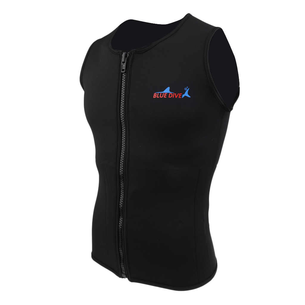 Zwarte Mannen Vrouwen Unisex 2mm Neopreen Wetsuit Vest Top Shirt Jasje Badmode Apparatuur voor Duiken Onderwatervissers Maat S M L XL XXL