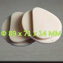 10 Pieces 89x71x14 MM Dental PMMA Blocks For CADCAM Milling Amann Girrbach System A1,A2,A3 Color PMMA Disc For Temporary Crowns a1 a2 a3 and clear dental pmma resin disc 98 14mm for cad cam dental lab materials with step