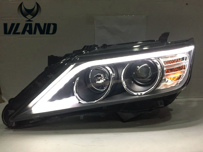 Free shipping vland factory for Camry  Headlights LED 2012  high quality LED bar Car Accessories plug and play free shipping vland factory car parts for camry led taillight 2006 2007 2008 2011 plug and play car led taill lights