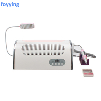 JOYJULY 3 in 1 Strong Power 54W Nail Art Salon Vacuum Dust Collector Cleaner Nail Dust Collector + LED UV Nail Dryer Lamp