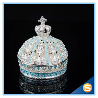 Wedding Favor Jewelry Gift Box Home Decoration Crown Shape Jewelry Box Trinket Box