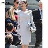 New Princess Kate Dress New Celebrity Party Women Bodycon Sheath Midi Dress Ladies Sexy Split Ruffle Dress Office Work Vestidos