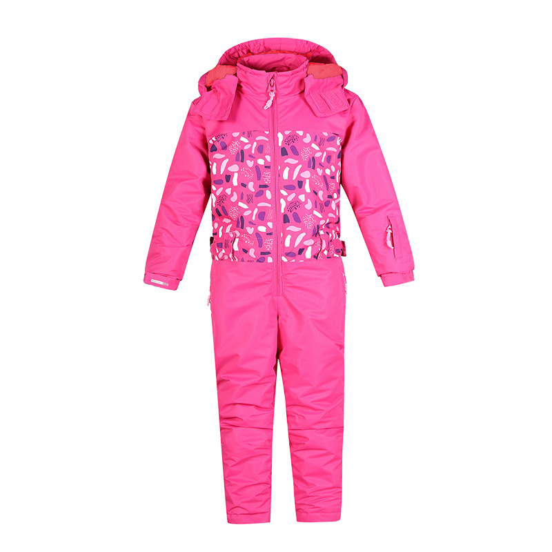 Childrens ski suits Kids Winter Warm Sport Coat Sets Childrens Snow Ski Suits Outdoor Wear Hooded Jackets+Bandage Pants 30#