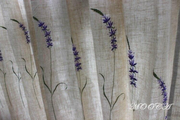 Aliexpress.com : Acquista Lavanda ricamato tende di lino per il ...