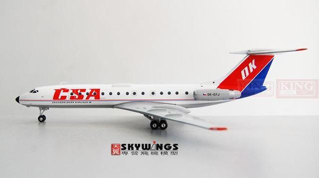 Phoenix 20059 Czech OK-EFJ Airlines 1:200 TU-134 commercial jetliners plane model hobby