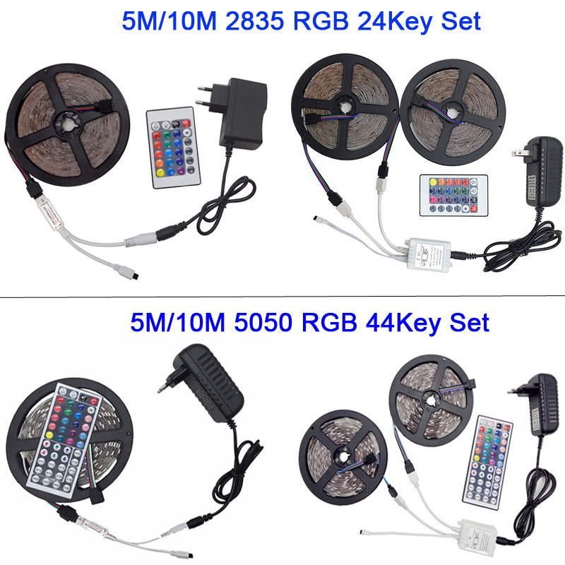 Image 4 - 5M 5050 RGB WIFI LED Strip light Waterproof RGB 10M 15M led ribbon tape Remote WIFI Wireless Controller 12V power adapter Kit-in LED Strips from Lights & Lighting