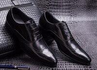 Горячая Распродажа мода итальянская мужская обувь оксфордский роскошные кожаные высокие мужская повседневная обувь для Wdding офисные туфли