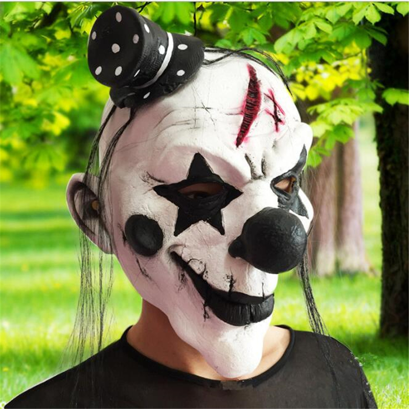 2016Horror!Halloween Mask Clown Mask Halloween Props <font><b>Grudge</b></font> Ghost Hedging Zombie Mask Realistic Silicone Masks Masquerade Ball8z