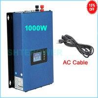Инвертор с разряда батареи режим, ограничитель 1000 Вт Солнечный MPPT сетки галстук инвертором DC 24 В 36 В 48 В 72 В к AC 110 В 120 В 220 В