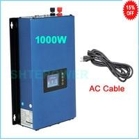 Inverter with battery discharge Mode No inter limiter 1000w solar MPPT Grid tie invertor DC 24V 36V 48V 72V to AC 110V 120V 220V