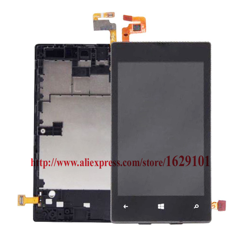 100% Working Full LCD Display Touch Screen Digitizer Assembly + Frame Bezel For Nokia Lumia 520 N520 Replacement Free shipping black lcd display touch screen digitizer assembly with bezel frame for nokia lumia 1520 replacements part free shipping