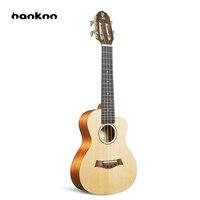 Hanknn 26 дюймов Гавайские гитары укулеле тенор 4 строки Профессиональный музыкальный инструмент Гавайи Гитары матовая Ukelele для начинающих или