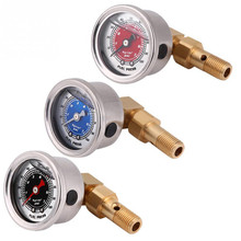 Universal Fuel Pressure Liquid Filled Regulator Gauge Adapter Kit 0-100PSI Oil Press FPT018