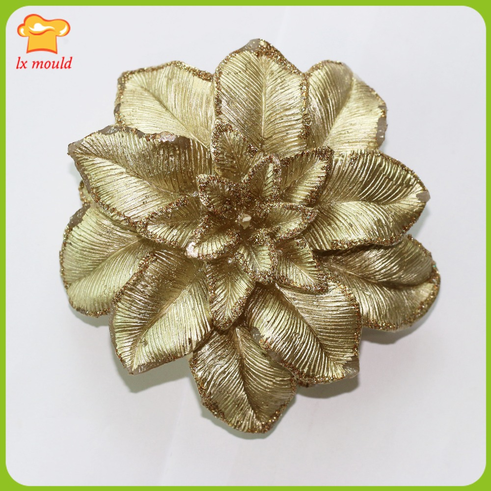 Poinsettia Kerst kaars mallen bloem siliconen mal bruiloft feest - Keuken, eetkamer en bar