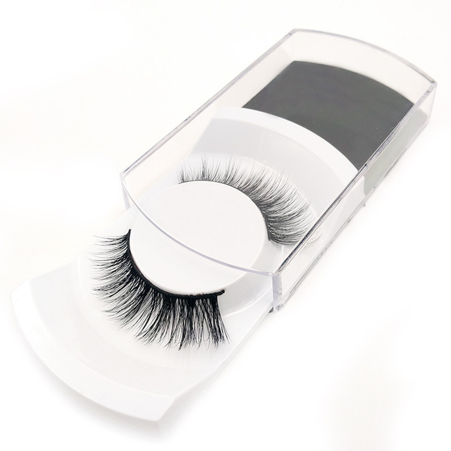 1 Natural False eyelashes set makeup kit 3d mink lashes, 1 eyelash tweezers, 1 eye lashes glue ,1 glue ring mink eyelashes 1