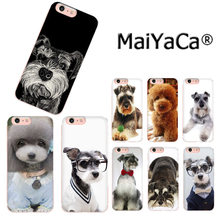 MaiYaCa Niedlichen tier hund Schnauzer Teddy Mode telefon Fall für iphone 11 pro8 7 66S Plus X 10 5S SE XS XR XS MAX(China)