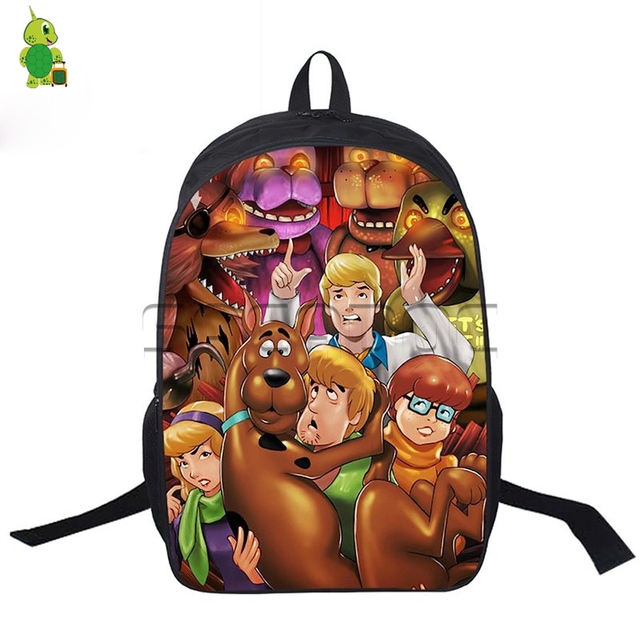 Five Nights At Freddy S Crossovers Backpack Book Bags Age Mutant Ninja Turtles Printed Travel Women