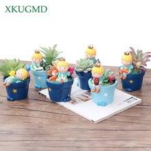 1PC New Cute Little Prince Succulent Planter Pots Resin Boy Flowerpot Bonsai Crafts Home Garden Yard Decor Birthday Gifts