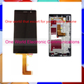 100% original Top quality Lcd Assembly LCD Digitizer Touch Screen  Complete with frame For Huawei P7 with free shipping