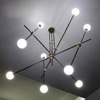 LED luzes Americano minimalista Personalidade criativa Ferro personalidade geométrica Pingente Luzes pingente de ferro lâmpada ZCLFG736|pendant lamp|pendant lights|geometric light -
